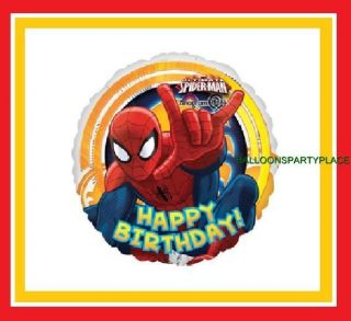 New Spiderman Balloons Happy Birthday Party Supplies Decorations Spider Man Hero