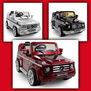 Licensed Mercedes G55 Ride on Toy Car 12V Battery Power Wheels Remote Control RC
