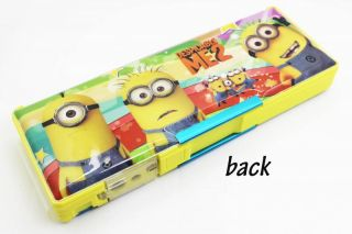 New School Supplies Multifunction Pencil Boxes Despicable Me Q015