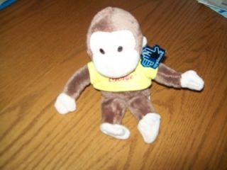 New with Tags Applause Curious George Plush 9 inches Soft Baby Plush