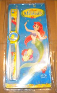 Vintage Disney Zeon The Little Mermaid Kids Quartz Wrist Watch Mint New