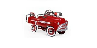 Red Tow Truck Pedal Car Childrens Retro Kids Toy New