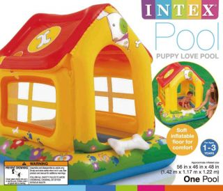 Intex Puppy Love Center Kids Inflatable Wading Pool House 57429EP