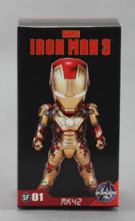 Kids Logic Marvel Iron Man 3 Mini LED Mark XLII MK42 Figure Pendant