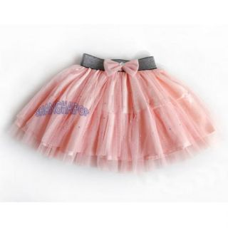 Stud Tutu Mesh Skirt Children Kids Girl Tulle Mini Ballet Ruffle Party Dance New