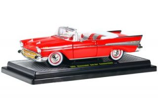 M2 Machines 1957 Chevy Bel Air Convertible 1 24 ` G Scale Diecast Car Release 20