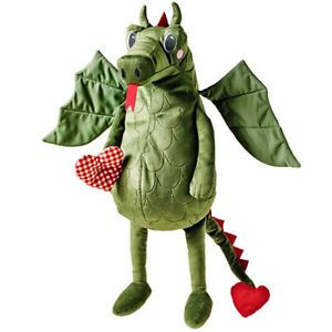 Brand New IKEA Flygdrake Kids Soft Plush Toy Stuffed Animal Dragon with Heart