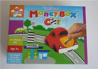 Boys Girls Kids Childrens Toy Paint Your Own Car Money Box Bank New Craft Boxed
