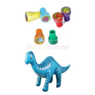 24'' Cool Fun Inflatable Blow Up Parasaurolophus Dinosaur Toys Party Favor Gifts