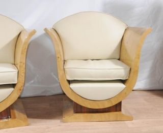 Pair Art Deco Sofa Arm Chairs Club Chair Vintage Furniture