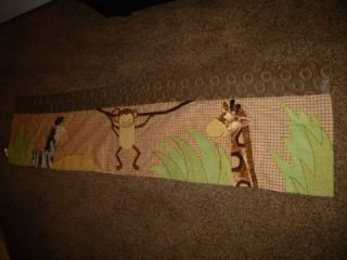 Valance Lambs Ivy Curtain Jungle Monkey Zebra Giraffe Cocoa Animal Brown