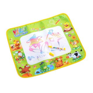 New 58 48cm Kids Water Drawing Painting Writing Mat Board Magic Pen Doodle Toy