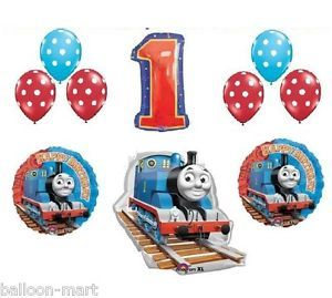 Thomas Tank Train Engine Party Balloons Birthday Supplies First 1st Railroad New