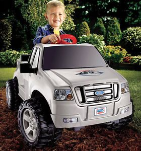 Ford Electric Silver Race Truck Kid Motorized Power Wheels Car Toy Ride on F150