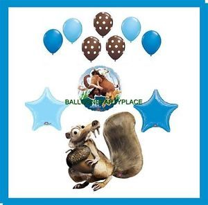 Ice Age Balloons Birthday Party Supplies Decorations Continetal Drift Scrat New