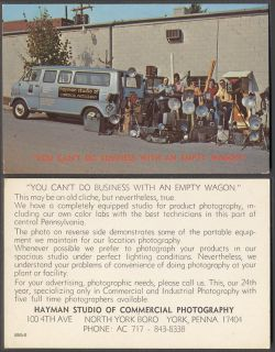 Vintage Chrome Color Postcard Men Cameras 1970 Ford Econoline Van Truck 938304