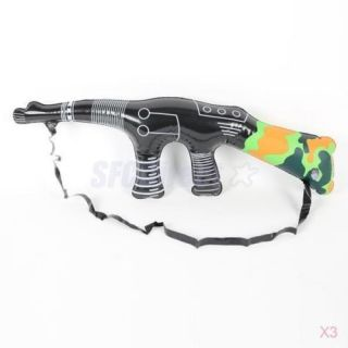 Boys Dress Up Inflatable Blow Up Rifle Gun Outdoor Toy Party Decoration Favour