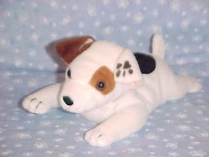 "Wishbone Plush Dog 9"" Long Bean Bag Stuffed Animal Puppy Pup Toy PBS Kids"