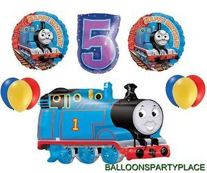 Thomas The Tank Train Balloon Birthday Party Decorations Supplies 5th Fifth Five