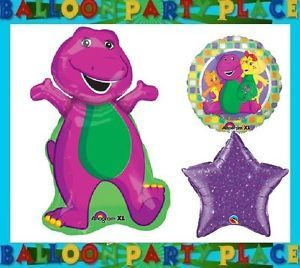 Barney Dinosaur Birthday Party Supplies Mylar Balloons Decorations Preschool Age
