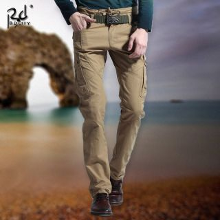 Hot New Men's Cotton Fashion Casual Slim Overall Long Pants Work Trousers Jeans