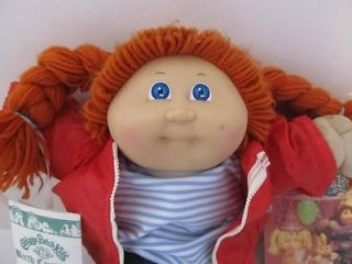 Vintage 1985 80's Redheaded Cabbage Patch Kids Doll Jessie Lelah Papers Tags