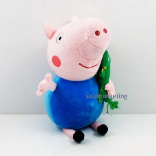 "8"" Peppa Pig Stuffed Plush Doll Toys 2 Pcs Figure Peppa George for Kids Gift"