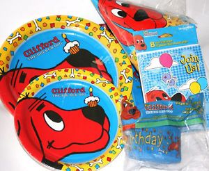 Clifford The Big Red Dog Birthday Party Supplies Choose Buy The Items You Need