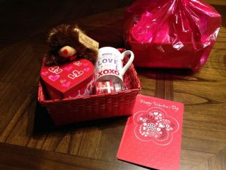 Valentines Day Gift Basket for Her