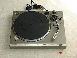 Hitachi HT 356 Direct Drive Turntable Vinyl Player w Ortofon VMS 3E Stylus