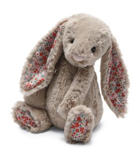 Jellycat Bashful Blossom Beige Bunny Medium Stuffed Animal Plush Toy