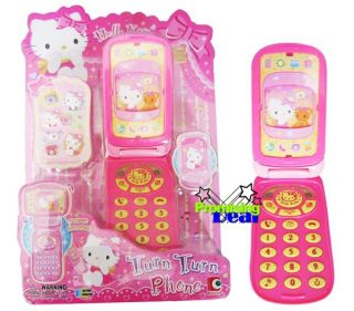 Hello Kitty Kids Mobile Cell Phone Plastic Toy Model