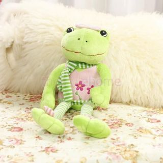 Cute Cartoon Frog Plush Doll Toy Nice Green and Pink Color Great Gift for Kids