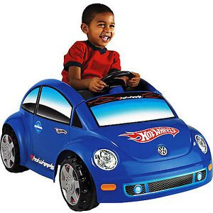 Fisher Price Power Wheels VW Beetle Hot Wheels Ride on Toys Battery Operated