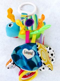 Infant Baby Kids Lamaze Flutterbug Rattle Crinkle Clanking Plush Doll Decor Toy