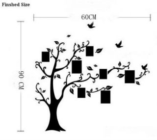 90 60cm DIY Photo Frame Tree Vine Flower Art Mural Wall Sticker Decal Decor Kids