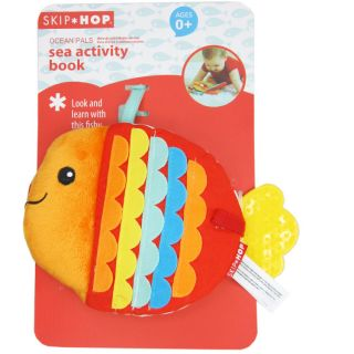 Infant Baby Children Kid's Teether Cloth Book Animal Mini Plush Cloth Book Toys