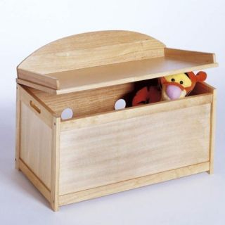 Lipper Classic Wooden Toy Chest Natural Wood Finish Children's Kid's Furniture