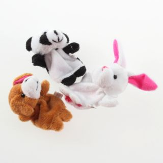 Baby Kids Child Educational Toys Finger Puppet Plush Learn Cartoon Animal Dolls