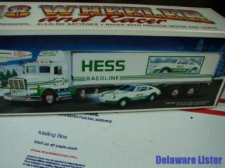 1992 Hess Gas Gasoline 18 Wheeler Truck and Racer Car in Original Box New