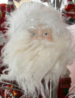 Giftcraft White Silver Santa Head Ornament 14072