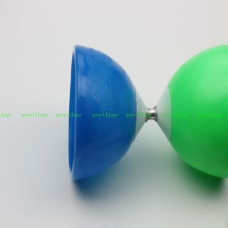 Blue Green Bowl Diabolo Chinese Yo Yo Secret Record Kid