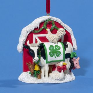 Christmas Kurt Adler 4H Barn Ornament Farm Cow Pig Hen