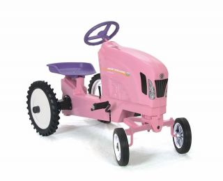 New Holland T7 270 Pink Rideable Kids Pedal Tractor