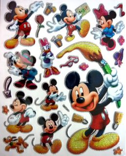 Cute Disney Princess Mickey Toy Story Cars 3D Sticker
