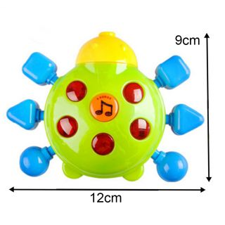 New Lovely Plastic Children Infant Toys Hand Bell Ring Rattle with Music Light