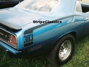 70 Plymouth Cuda Hockey Stick Stripe Kit Mopar 318