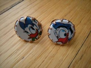 1960's Children's Toy Disney Rings Donald Daisy Duck