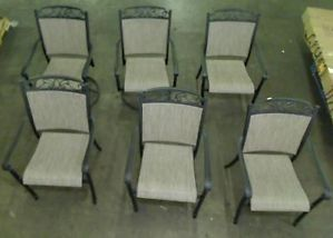 Hampton Bay Santa Maria Patio Chairs 6 Chairs Only
