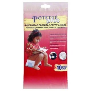 New SEALED Potette Plus Disposable Portable Potty Liners 10 Pack Chair Seat
